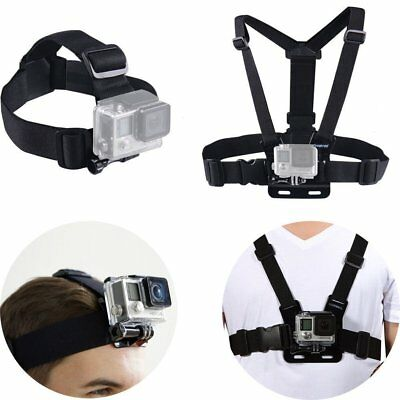 Chest Action Mount Strap Adjustable Harness Head for GoPro Hero 4  3 2 1 Camera