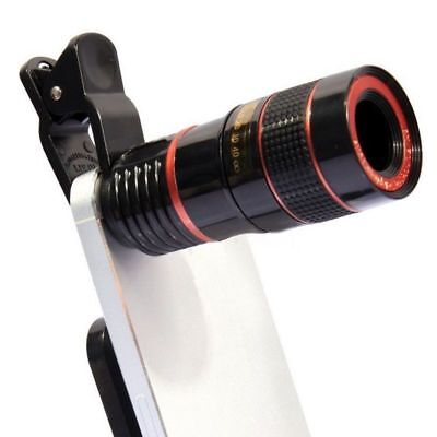 Clip-on 8X/12x Optical Zoom HD Telescope Camera Lens For Huawei iPhone Phone