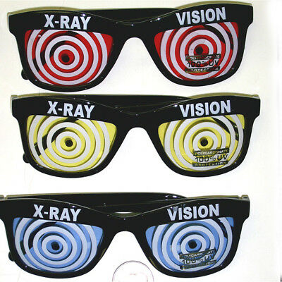 X-Ray Vision Glasses (Choose Your Color) Red Blue Yellow Specs Wayfarer Adult