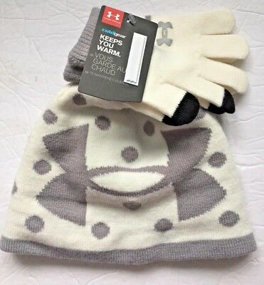 New! Girls Under Armour Gloves and Hat Set (Cold Gear; ) - 4-6 yrs