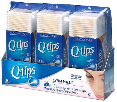 Q-tips Cotton Swabs, Club Pack 625 ct, Pack of 3  {Imported from Canada}