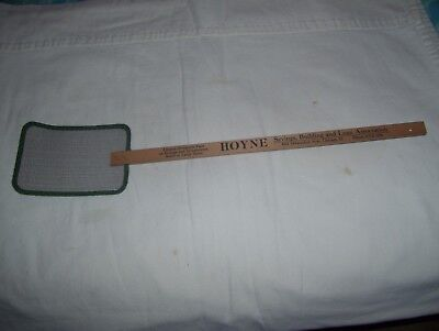 Vintage Advertising Fly Swatter Hoyne Savings and Loan Chicago IL Wood Handle