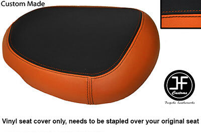 Black & Orange Vinyl Custom Fits Suzuki Hayabusa Gsx 1300 08-12 Rear Seat Cover