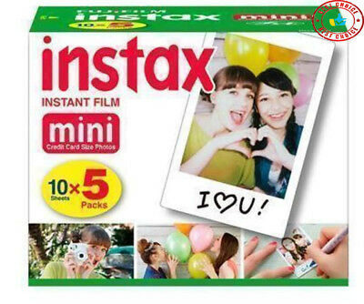 Brand New FujiFilm Instax Mini Film 50 -Pack - Sealed - Free Shipping Fast