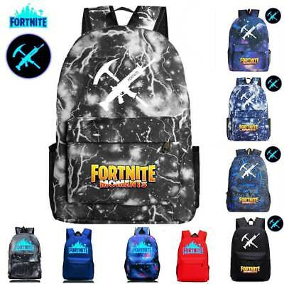 Fortnite Battle Royale Backpack Rucksack School Bag GLOW IN DARK Pencil CASE Bag