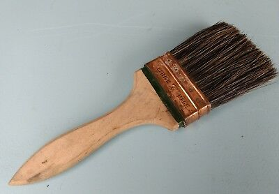 Vintage Paint Brush - 3 Inches Wide - British Made - Pure Bristles