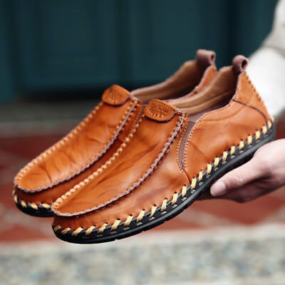 Mens Suede Loafers Shoes Casual Leather Moccasins Flats Driving Slip On Fashion