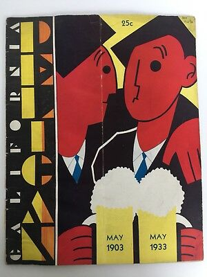 Vtg May 1933 Pelican Magazine Art Deco  Cover and Contents UC Berkeley Journal
