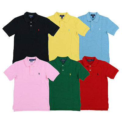 Polo Ralph Lauren Boys Polo Shirt Classic Mesh Short Sleeve Pony Logo Kids Top
