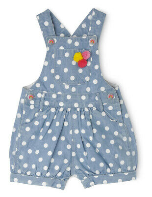 NEW Jack & Milly Meggie Overall with Bib - Chambray with White Spot Indigo