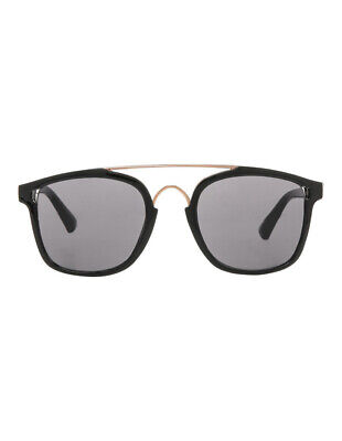 NEW Kenji Plain Black Double Bar Sunnies