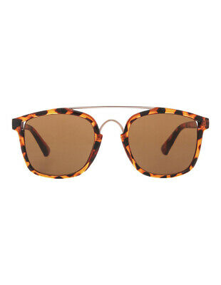 NEW Kenji Tortoise Shell Double Bar Sunnies Brown