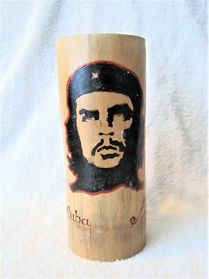 Rare - Made In Cuba - Hand Crafted - Wooden Tall Mug - Cup - Che Guevara - Gift!