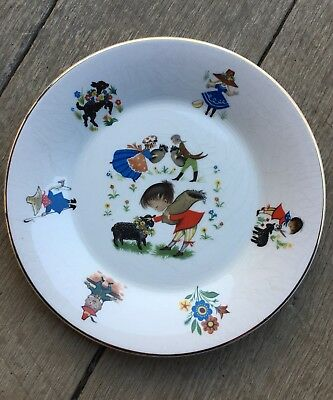"Arklow Republic Of Ireland Nursery Rhyme Child's 7.75"" Plate Baa Baa Black Sheep"