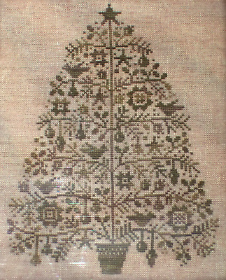 All Through the Night OH CHRISTMAS TREE Counted Cross Stitch Pattern