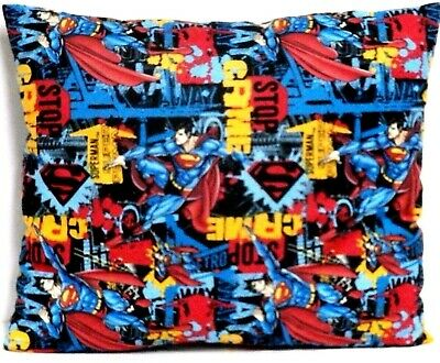 Superman Toddler Pillow on Black 100%Cotton SM8-4 New Handmade