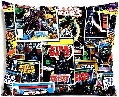 Star Wars Toddler Pillow on Black blocks 100%Cotton SW5-1 New Handmade