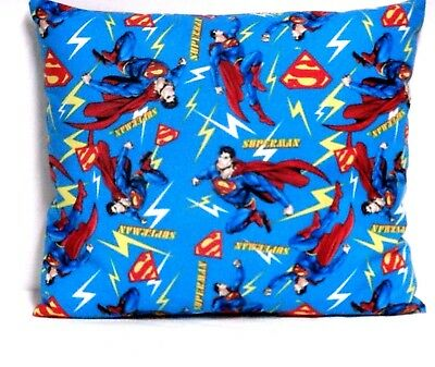Superman Toddler Pillow on Blue 100%Cotton SM6-2 New Handmade