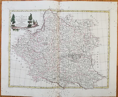 Zatta Large Original Map Poland La Polonia - 1779