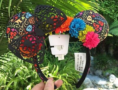 Disney Parks & Pixar's Coco Dia de los Muertos Minnie Mouse Ears Headband Adult