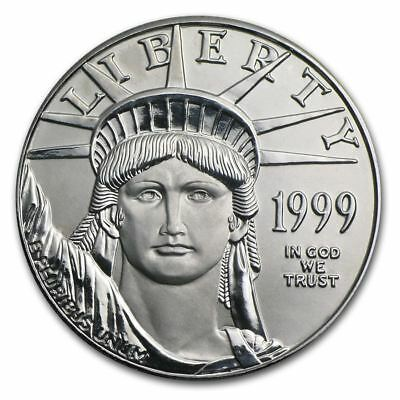 1999 US Mint $100 American Platinum Eagle 1 oz Platinum Coin