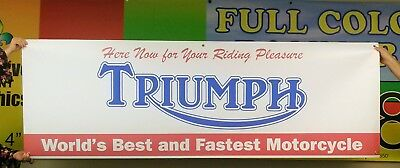 Large Triumph Dealer Vintage logo Banner Sign Flag v3