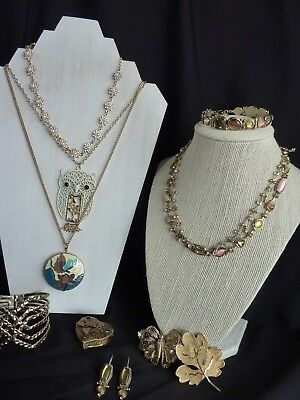 Mixed Lot of Vintage to Costume Jewelry Necklaces Earrings Bracelets