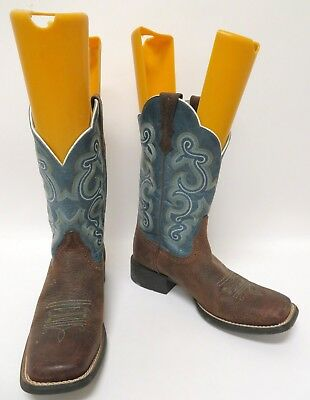 68a5cecdd4b ARIAT WOMEN'S QUICKDRAW Blue Fancy Stitched Cowgirl Boots - Square Toe Size  8 B
