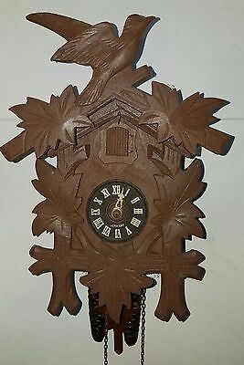 Vintage Black Forest Cuckoo Clock -Complete- (needs bellows repair)