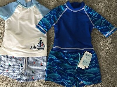 BNWT Mothercare And Next Boys UV Sunsafe Swimming Shorts And Vests 3-6 Months