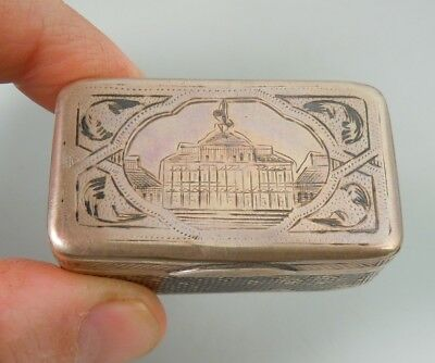 Antique 1899 Russian Niello Silver Snuff Box               52721