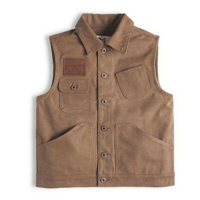 Vintage  Canvas Hunting Military  Pocket Vest Fishing Outdoor Waistcoat