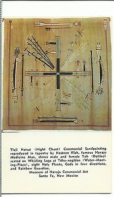 Night Chant Sand Tapestry American Indian Sante Fe New Mexico Roadside postcard
