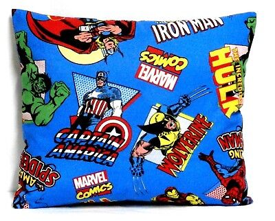 Spider man Super Heros Toddler Pillow on Blue 100%Cotton SP17-1 New Handmade