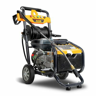 High Pressure Water Cleaner/ Washer. 8HP Petrol 4800PSI Gurney. 15M or 30M Hose