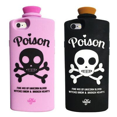 3D Cartoon Soft Silicone Skull Poison Phone Case For iPhone X SE 5 6 7 8 Plus