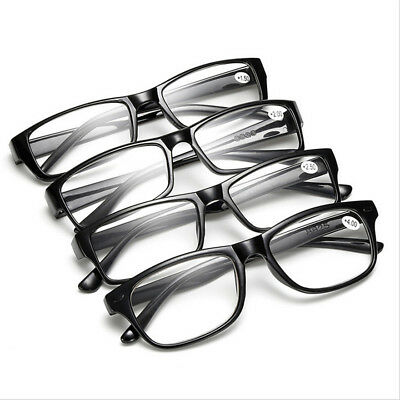 Mens Ladies Wayfarer Frame Magnifying Reading Glasses Nerd Spectacle GIFT Y8