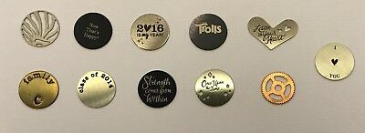 Authentic Origami Owl Medium Plates Charms - NEW & RETIRED