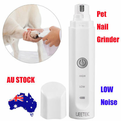 Electric Dog Cat Pet Claw Toe Nail Trimmer Tool Care Grooming Grinder Clipper AU