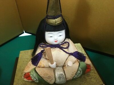 RARE Antique Traditional Vintage Japanese Hina Ningyo Doll 3 Stage 50 Years Ago