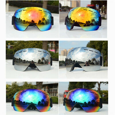 Adult Anti-fog Double Layers UV Skiing Snowboard Goggles Sunglasses Glasses Y8