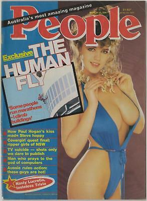 AUSTRALIA'S PEOPLE MAGAZINE March 1987 PAUL HOGAN, AUSSIE RULES, THE HUMAN FLY