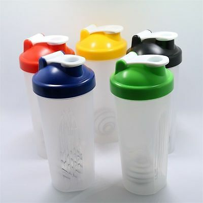 500ml BPAfree Shake Protein Blender Shaker Mixer Cup Drink Whisk Ball Bottle Q