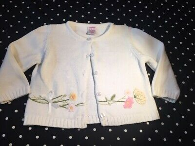 GYMBOREE FAMILY BRUNCH PINK EYELET CARDIGAN CROP SWEATER 18 24 2T 3T NWT