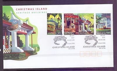 Christmas Island  2006  FDC, Heritage Buildings.