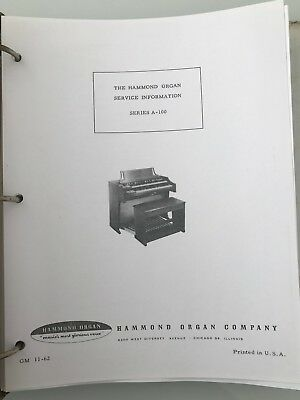 Service-Manual-for-Hammond A-100 Organ-Trouble-Shoot-Schematic-Wiring-