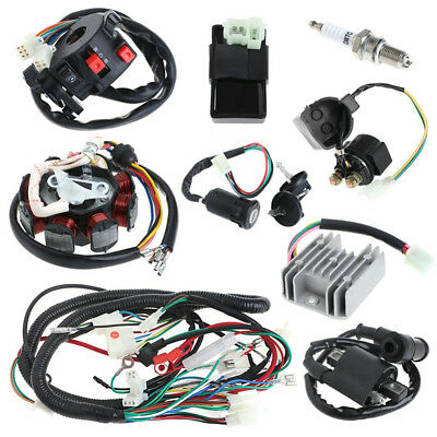 Motorcycle ATV QUAD Stator CDI Coil Electric Wiring Harness Wire Loom Assembly
