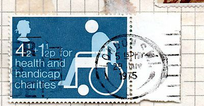 GB; 1975 For Health and Handicap Charities + ENDPAPER ; LONDON POSTMARK USED *BL