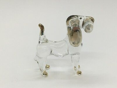 Dachshund Clear Hand Blown Blowing Glass Art Animal Dog Cute Fancy Collectible 2
