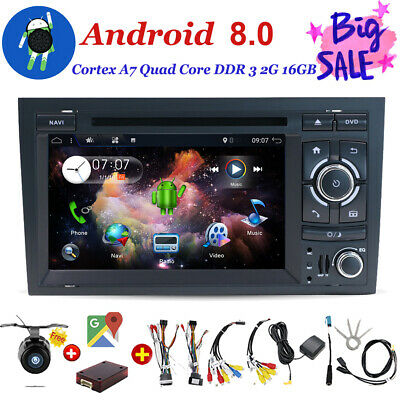 Car DVD Radio Android 7.1 Head Unit Stereo GPS Sat Navi For Audi A4 S4 RS4 B6